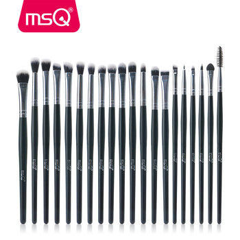 MSQ Professional 20PCS Makeup Brushes Sets Eye Shadow Eyelashes Eyebrow Lip Cosmetic Tool Make Up Eyes Detail Brush Kits professional eye shadow brush wood handle 230 large flat tapered shader brush eye detail make up brush cosmetic tool