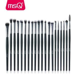 Image 2 - MSQ profesyonel 20 makyaj fırçası setleri göz farı kirpik kaş dudak kozmetik aracı makyaj gözler detay fırça seti