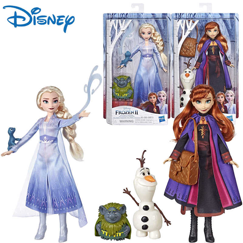 Genuine Disney Frozen 2 Fashion Dolls Story Elsa Anna Olaf Doll Toy Model Toys For Girls Children Christmas Gift E6660 Dolls Aliexpress