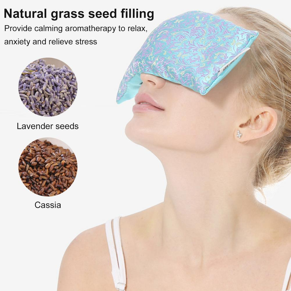 lavanda aromaterapia olho de seda travesseiro cassia semente lavanda mascara de relaxamento aromaterapia aromaterapia quente e