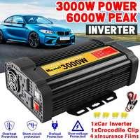 Inverter 6000W DC 12V to AC 110V Car Power Inverter Charger Converter Adapter DC 12V to AC 110V Modified Sine Wave Transformer