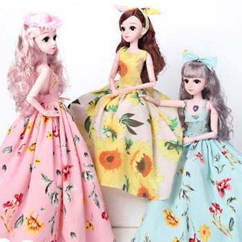 Hot 60cm Bjd Doll 18 Movable Joints with Fashion Accessories Clothes Shoes DIY Dress Up Toys Dolls For Girls Farm Princess Gifts цена 2017