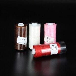 50M 150D 1mm dicke Gewachste Gewinde für Leder gewachste Schnur für DIY Handwerk Werkzeug Hand Nähen Gewinde Flach gewachst Nähen Linie