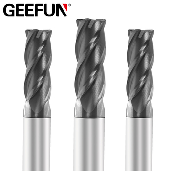 Carbide Corner Radius End Mill 4 Flutes HRC50 Endmill Tungsten Steel CNC Machine Milling Cutter EndMills Cutting Tools 3f 12 hrc50 carbide square flatted end mill 3flute milling cutter for aluminum endmill tools carbide cnc end mill router bits