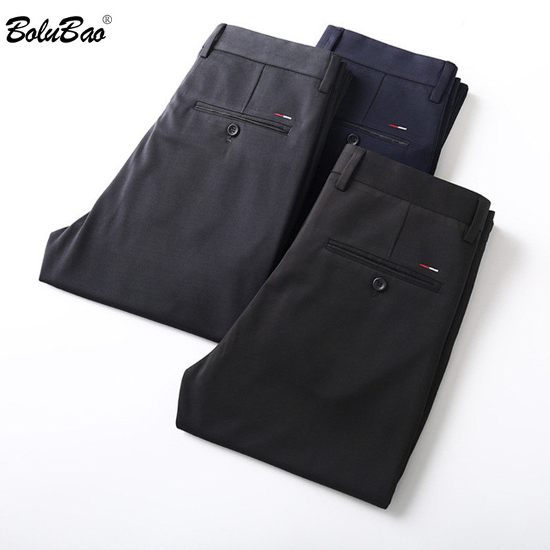 BOLUBAO Brand Men Pants Fashion Business Style Slim Fit Men's Quality Trousers Comfortable Solid Color Office Suit Pants Male(China)