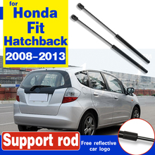 1Pair Auto Tailgate Trunk Boot Gas Struts Spring Lift Supports For Honda Fit 2008-2013 Hatchback Boot Struts Support Gas Spring 2pcs for chrysler sebring 1997 1998 1999 2000 rear trunk lift supports prop struts shocks gas spring rod damper