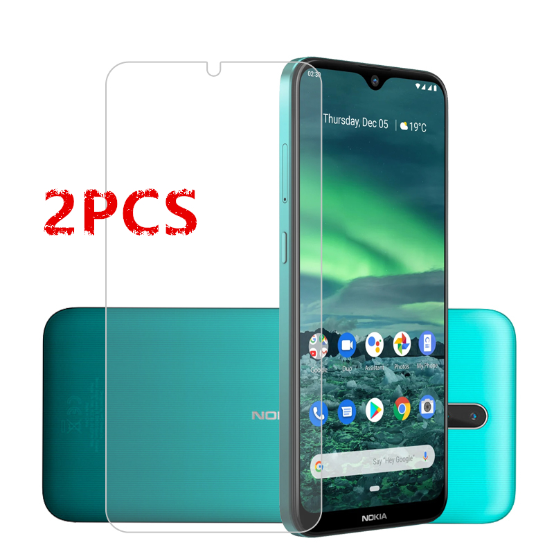 2PCS For Nokia 2.3 Glass For Nokia 2.3 Tempered Glass Film Full Glue Hard Phone Screen Protector Protective Glass For Nokia 2.3