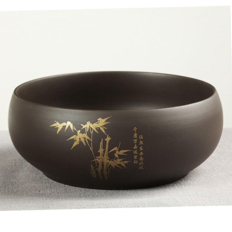 Writing brush pen washer bowl pot  kung fu teacups tea wash pottery zhisha flower pot jar 1pc