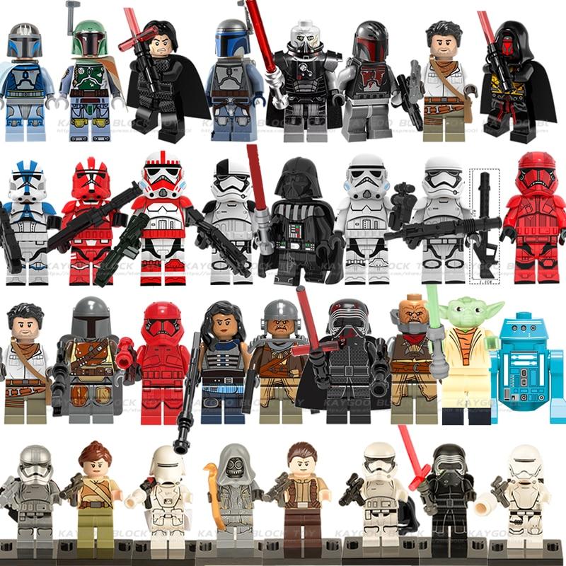 Star Wars Figures Legoing StarwarsYoda  Leia Han Solo Luke Sith Lord Darth  Maul Revan Dooku Vader Building Blocks Bricks Toys