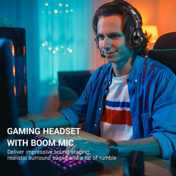 Oneodio A71 Gaming Headset Studio DJ Headphones Stereo Over Ear Wired Headphone With Microphone For PC PS4 Xbox One Gamer 5