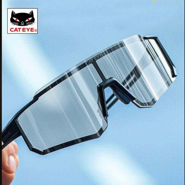 Cateye men ciclismo óculos mulher photochromic esporte bicicleta polarizada óculos de sol mtb bicicleta caminhadas óculos 100% speedcraft 3