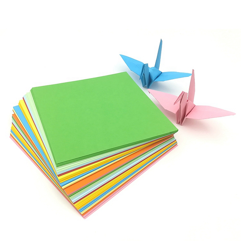 500sheets 7x7cm 10x10cm 15x15cm Kid Gift Paper Cranes Origami Craft Square Folding Paper 20CM 25CM DIY Handmade Color Paper