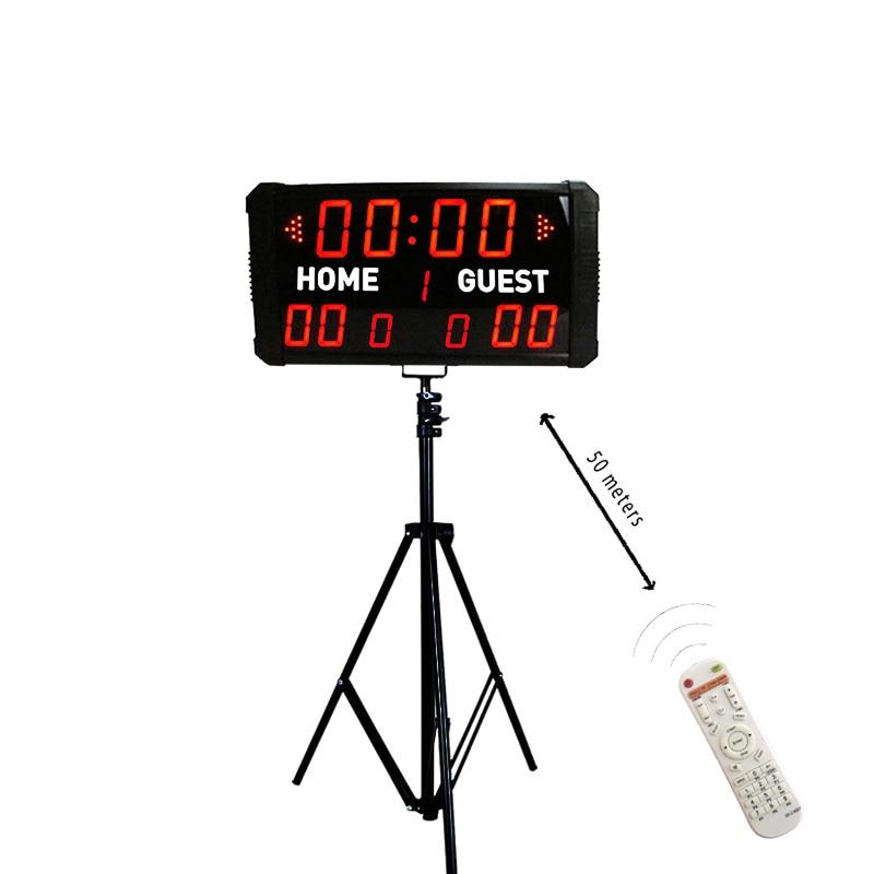 Modern portable electronic digital baseball scoreboard clock led scoreboard with stand