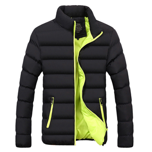 Image 1 - חורף מעיל גברים בגדי 2020 מוצק צבעים Ultra אור Parka Mens מעילי מעילי צווארון עומד בועת מעיל המשאף מעילים