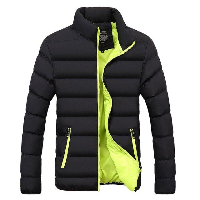 חורף מעיל גברים בגדי 2020 מוצק צבעים Ultra אור Parka Mens מעילי מעילי צווארון עומד בועת מעיל המשאף מעילים