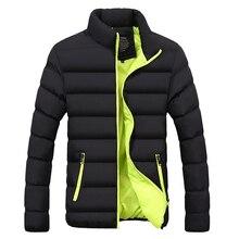 Kış ceket erkek giysileri 2020 katı renkler Ultra hafif Parka erkek ceket ve palto standı yaka kabarcık ceket kirpi ceketler