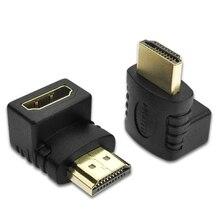 HDMI תואם מתאם 270 תואר ימין זכר לנקבה ממיר Extender עבור PS4 HDTV Projetor מחשב נייד צג 1.4 ממיר