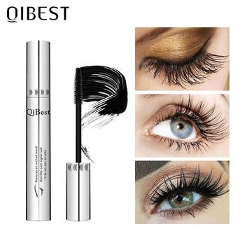 QIBEST Makeup Black Mascara 4D Curling Thick Volume Eyelashes Make up Waterproof Lengthening Eyes Cosmetics