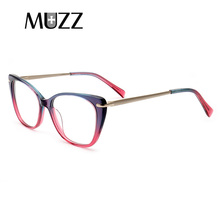 Acetate Glasses Frame Cat eye Women Eyeglasses myopia Optical Vintage High-quality Goggles Eyewear