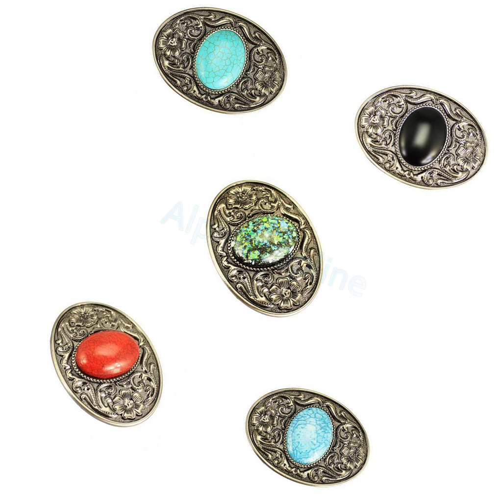 Set Of 5PCS Bohemian Style Western Cowboy Belt Buckle Men Women DIY Accessories