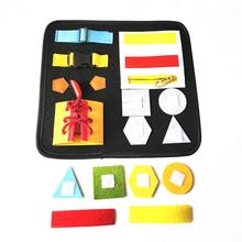 цены 2020 Newest Toddler Busy Board Montessori Toys Basic Skills Board Early Educational Learning Toddler Sensory Toys