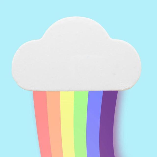 1PCS 100% Natural Skin Care Cloud Rainbow Bath Salt Shower Bomb Exfoliating Moisturizing Bubble Bath Bombs Suitable for everyone 2