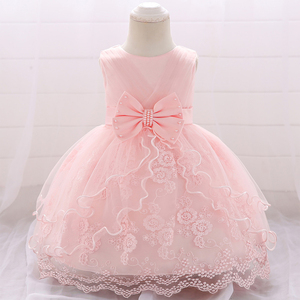 2020 Newborn Child Clothes Christening Dress For Baby Girl Princess Girl Dresses 1st Birthday Party Baptism Dress Girls Wedding(China)