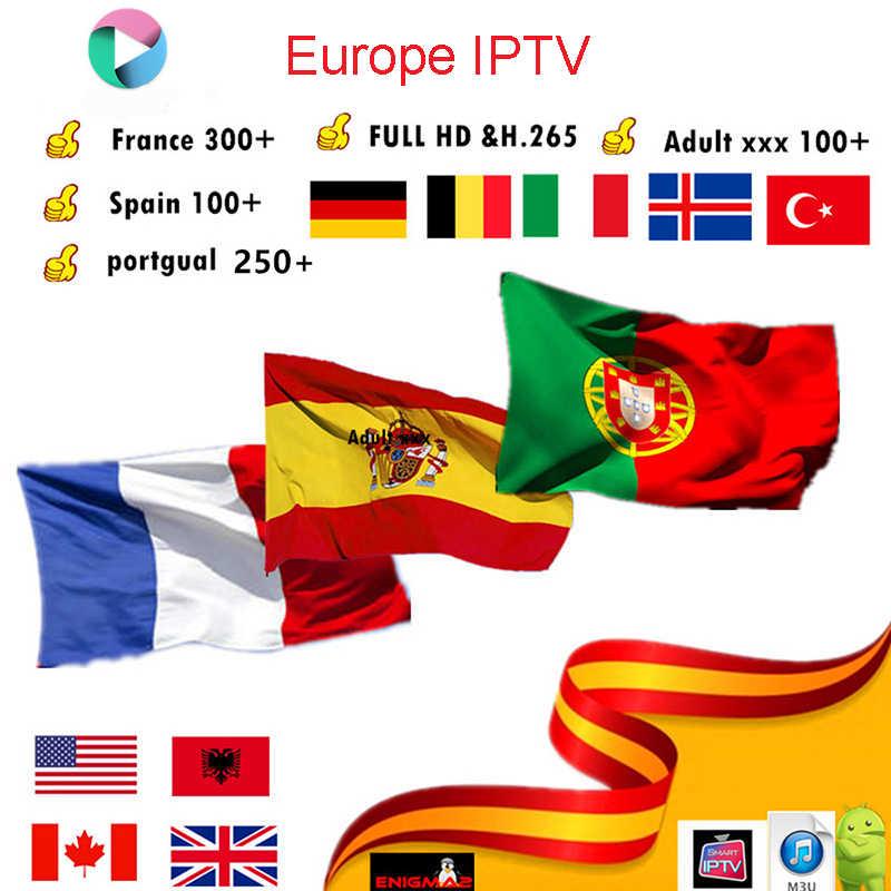 Satxtrem IPTV Thuê Bao HD 4K Pháp Tây Ban Nha Bồ Đào Nha Ý Ba Lan Tiếng Ả Rập Châu Âu IPTV M3U Máy Chủ Cho TV Thông Minh Android hộp