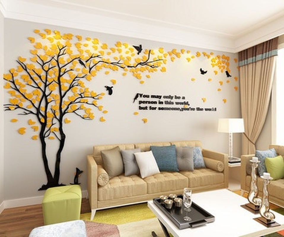 3D Stereo Acrylic Wall Sticker Sitting Room TV Background Home Wall Decoration