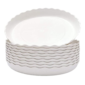 AYHF-30 Pcs Wave Plant Saucer Flower Pot Drip Trays/Durable Heavy Duty White Plant Tray for Indoor and Out Door Plant 6 Inch