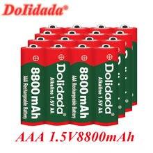20 pçs brand1.5v aaa bateria recarregável 8800mah aaa 1.5v novo alcalino recarregável batery para led luz brinquedo mp3 frete grátis