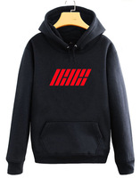 Ikon Clothes Bobby Gold zhi yuan Celebrity Style Hoodie Autumn Clothing Women's Fleece Coat