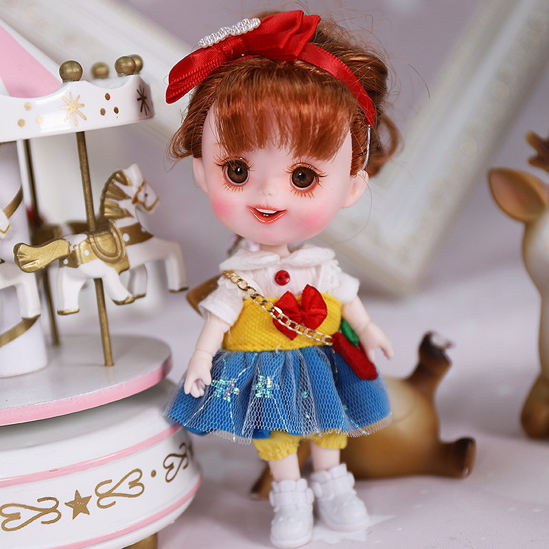 Dream Fairy 1/12 BJD DODO Doll Vintage and Perky style 14cm mini doll 26 joint body Cute children gift toy ob11 7