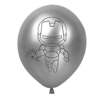 10pcs Super Hero Balloon Latex Balloons Spiderman Kids Spider man Birthday Party Decoration Baby Shower Balloons 32