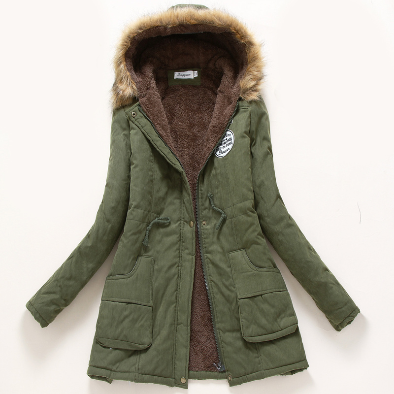 Womens Parka Casual Pregnant Woman Wear Autumn Winter Military Hooded Coat Winter Jacket Women Plush Coats Maternity Clothing