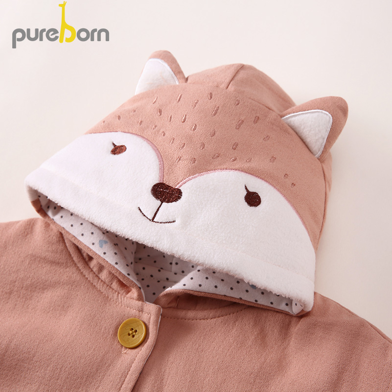 Baby Girls Hoodies Cloak Coat Toddler Kids Winter Cotton Cape Poncho Cloak Outerwear Cute Fox With Tail Poncho Jacket Clothing