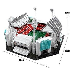 Image 5 - 4654 sztuk klocki kreatywne zabawki stare tradifficates Manchesters boisko do piłki nożnej Model cegły zabawki edukacyjne dla dzieci urodziny prezenty