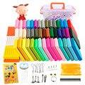 24-50 farben Polymer Clay Fimo DIY Weichen Ton Gesetzt Form Handwerk Ofen Backen Ton Blöcke Montessori Frühen Bildung spielzeug Für Kinder