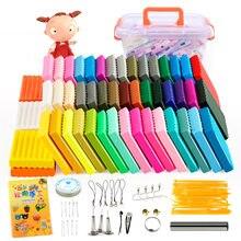 Plastilina de colores para niños, arcilla polimérica educativa de textura suave y secado al aire para modelar, juguete de aprendizaje temprano, incluye herramientas y utensilios, Set DIY Fimo de 24 a 50 colores