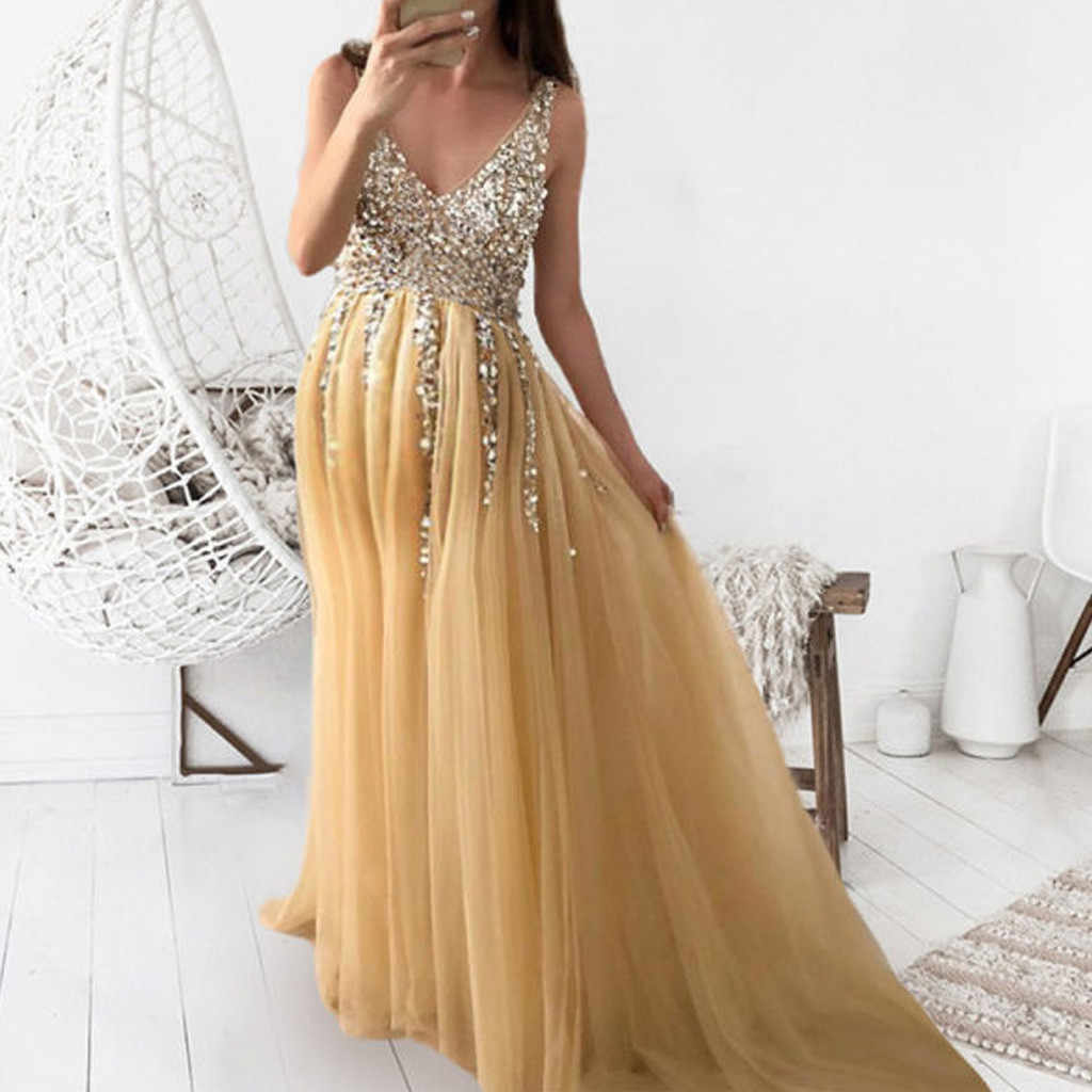 Women Pregnants Dress Maternity Photography Props Short Sleeve Sequined Solid Dress Fashion Female Party Maxi Dresses M140#