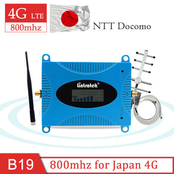 Lintratek B19 800 Cell Phone Repeater Cellular Amplifier Signal Repeater Booster Set Antenna 10M Japan NTT Docomo Call 4g Lte S8