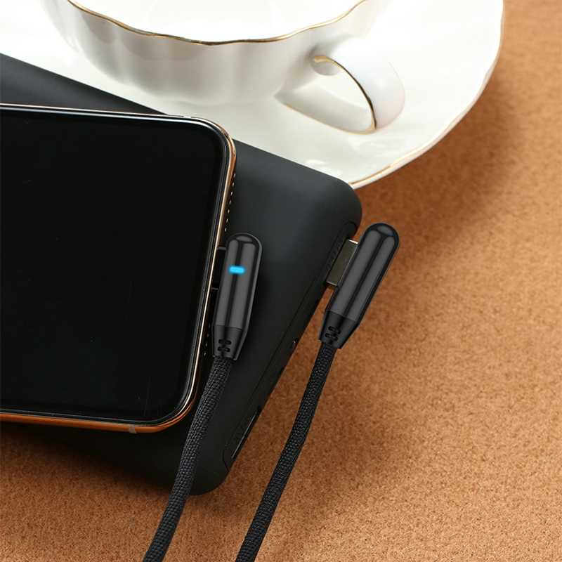 Micro USB Type C สำหรับ iPhone XR 11 Pro สายชาร์จข้อมูลได้อย่างรวดเร็วสำหรับ Xiaomi Mi 10 Pro Samsung s10 S9 S8 90 องศา Super Charge