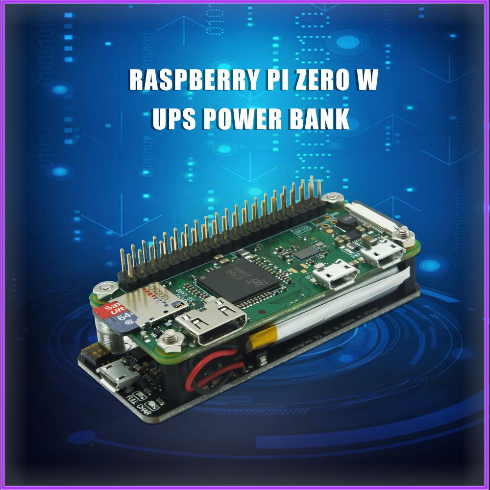 Raspberry Pi Zero UPS Power Expansion Board With Integrated Serial Port And Power Detection Support RPI 0 W WH