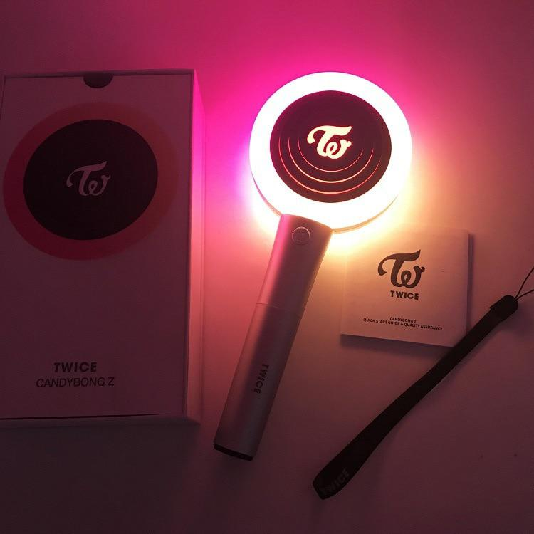 KPOPTWICE Official Light CANDY BONG Z TWICE Ver.2 No Bluetooth CANDY BONG Z Light Stick Concerts Album Glow Lamp Lightstick