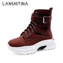 Теплые плюшевые зимние ботинки массивные кроссовки ботильоны