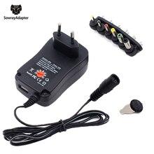 3V 4.5V 5V 6V 7.5V 9V 12V 2A 2.5A AC/Adapter DC regulowana moc zasilania uniwersalny Adapter ładowarka do żarówki LED taśmy LED