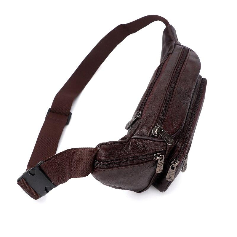 Image 4 - ZZNICK, 2020 натуральная кожа, Мужские поясные сумки, поясная сумка, сумка для телефона, сумки для путешествий, поясная сумка, Мужская маленькая поясная сумкаПоясные сумки   -