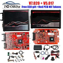 SW V2.53 V5.017 Version ue Version en ligne V2.25 V7.020 4LED rouge PCB V2 5.017 rouge 7.020 pas de jetons limités