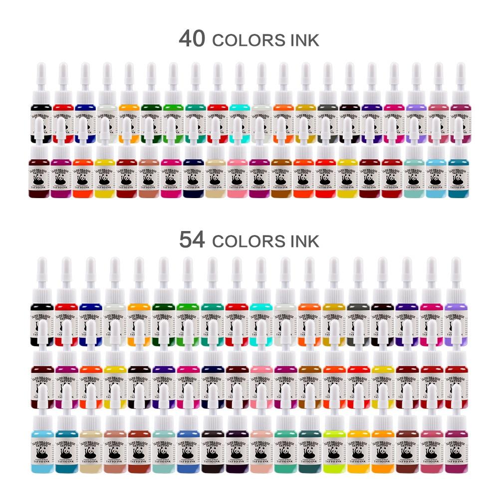 20pcs/set Tattoo Ink Pigment Set Body Art Tattoo Kits Professional Beauty Paints Makeup Tattoo Supplies Semi-permanent Body Art