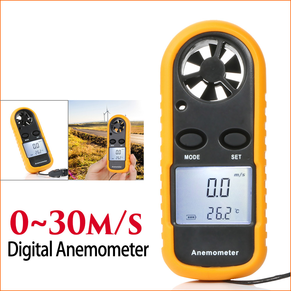 Portable Anemometer Anemometro Thermometer GM816 Wind Speed Gauge Meter 40DC25